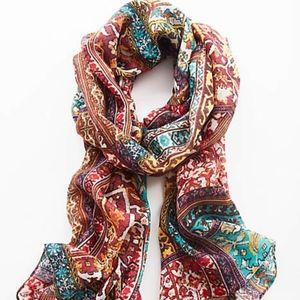 J. Jill Luxurious Multicolor Tasseled Scarf